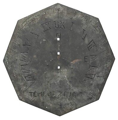 Lovely Antique Tempus Fugit Sun Dial  Sundial circa 1820