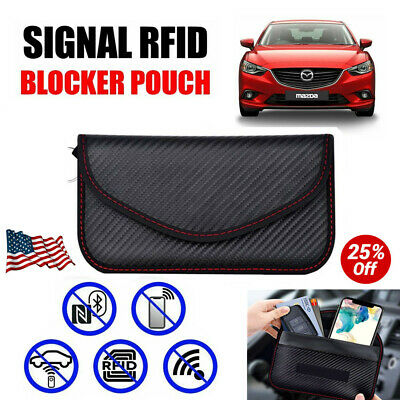 Car Key Signal Blocker Case Faraday Cage Fob Pouch Keyless Blocking Bag