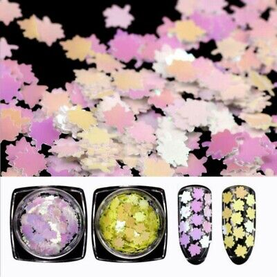 Maple Leaf Glitter Nail Art Acrylic Gel Body Art Face Festival DIY Accessories