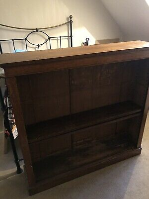 "Victorian large oak open BOOKCASE 48"" Plinth, 45.5"" Height, 11"" Depth"