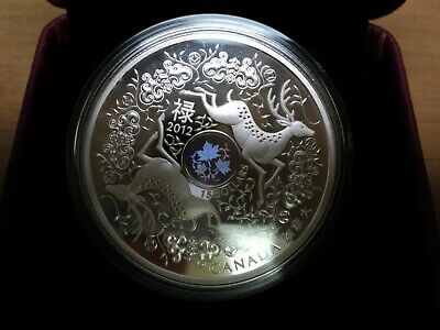 2012 $15 Canada 99.99% Proof Silver MAPLE Leaf OF GOOD FORTUNE Coin w/ Box & COA