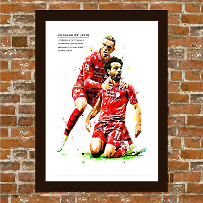 Liverpool Fc - Mo Salah Champions League Final Art Print -  Framed Print.