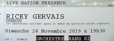 1 place Ricky Gervais Olympia Billet Paris 24 novembre 2019 - The Office