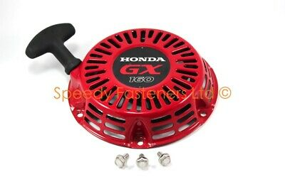 Genuine New Honda GX160 Pull Cord Start Recoil & Bolts Pro Kart Cadet Karting