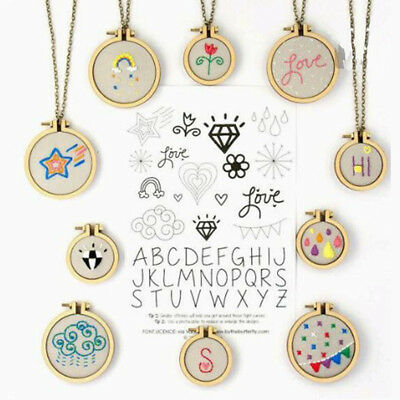 Mini Embroidery Wooden Hoop Hand Cross-Stitching Fixing Framing DIY Craft