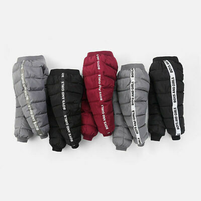 Pants Trousers Long Baby Thickened Winter Boys Casual Girls Trousers Down Kids
