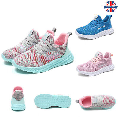 Kids Children Running Trainers Boys Girls Comfort Sports Shoes Mesh Sneakers New