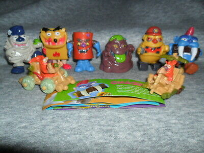 Yowies Super Series / Full Set Of 8 Cartoon Limited Editions With Papers