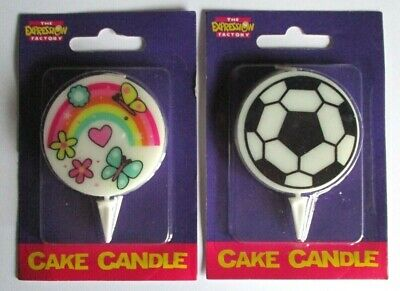 Football/Rainbow Laser Print Cake Candles Only £1.69
