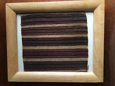 "Pre-Columbian Antique Fabric 8"" X 7.5"" from Peru Framed"