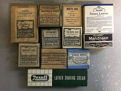 Lot of 11 Different Vintage Medicine Remedy Advertising Boxes - Full - Unopened