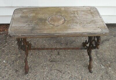 Small Antique Cast-Iron Bench