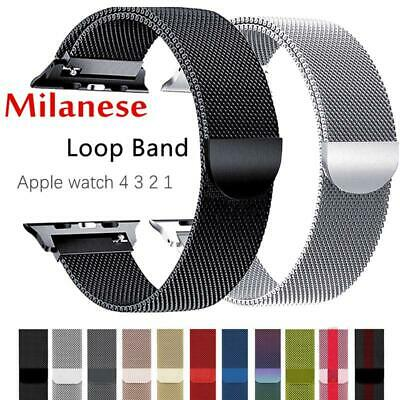 For Apple Watch 4/3/2/1 Strap iWatch band 42mm 38 mm Stainless Steel Bracelet