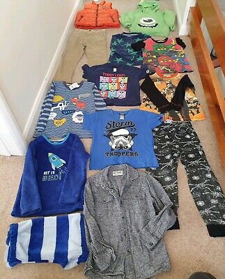 Boys clothes bundle 5-6 years - 13 items inc M&S gilet & star wars