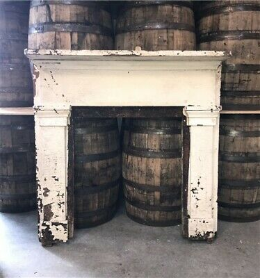 Antique Wood Fireplace Mantel Surround Architectural Salvage Victorian Rustic t