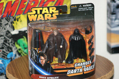 Star Wars Revenge of the Sith Anakin Skywalker Changes to Darth Vader Figure
