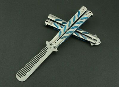 Stainless Steel knife butterfly Practice Butterfly Training Knife comb titanium