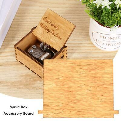 Retro Wooden Hand Cranked Music Box Board Accessories Xmas Kids Gift Decor Kits