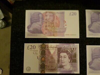 10x 20 Notes Realistic UK Pounds Prop Money British ACTUAL SIZE! -Fast shippin