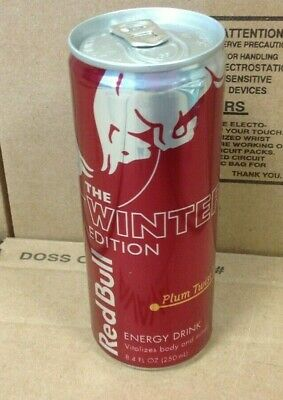 NEW Red Bull Winter Limited Edition 8.4 oz (250 ml) oz Plum Twist Energy Drink