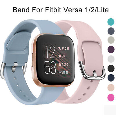 Soft Silicone Replacement Strap Watch Band Bracelet For Fitbit Versa 2 1 Lite