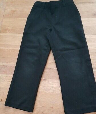 boys black school trousers elastic waist age 4-5 years bottoms from george