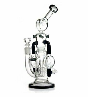 11 inches Glass Recycler Bong Percolator Glass Bong Water Pipes Smoking Hookah