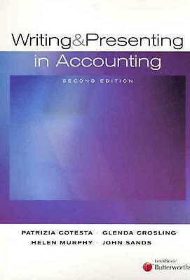 Writing and Presenting in Accounting by H. Murphy Paperback Book Free Shipping!
