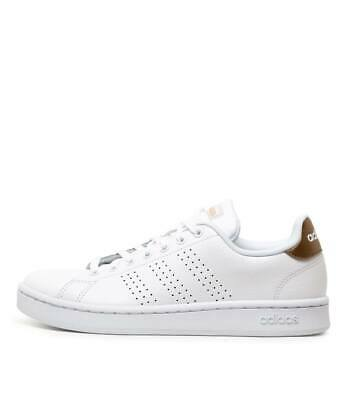 New Adidas Advantage W White Pale Gd Womens Shoes Casual Sneakers Casual