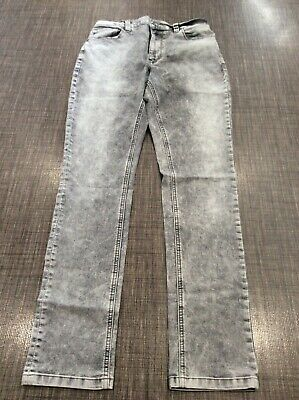 Next Boys Super Skinny Grey Acid Wash Effect Jeans Size 15 Yrs