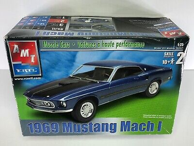 AMT ERTL 1969 MUSTANG MACH 1 MODELKIT 1:25 SCALE Muscle Car (NEW IN Opened Box)