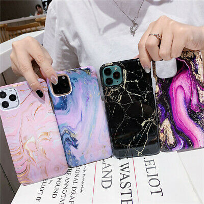 For iPhone 11 Pro Max XS Max XR X 8 7 6Plus Marble Ultra Slim Shockproof PC Case