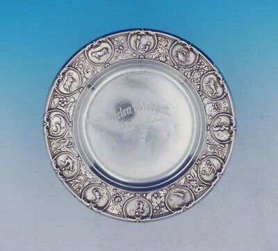 "Zodiac by Gorham Sterling Silver Child's Plate 7 1/4"" Diameter #475 (#3738)"