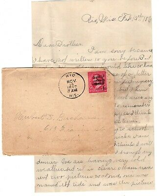 Letter- Brother Ira writes from School in Rio, Wisconsin 1897