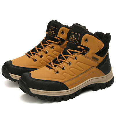 Men's Winter Warm Snow Boots Ankle Shoes Outdoor Hiking Shoes Casual Waterproof