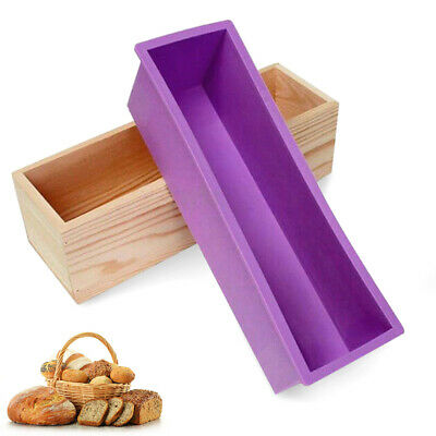 Wooden Loaf with Silicone Mold DIY Soap Making Wooden Box Mould
