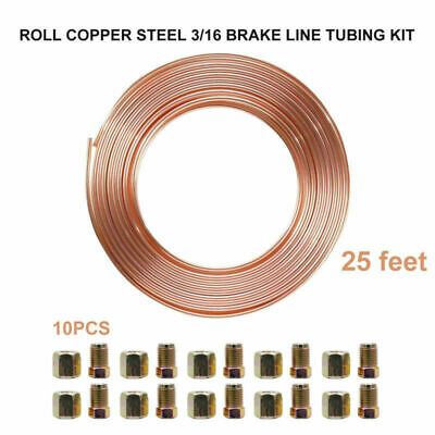 COPPER BRAKE PIPE READY MADE 24 Inches Long METRIC 10MM MALE ENDS