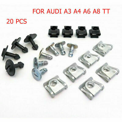 Engine Undertray Underbody Shield Clips Fasteners Kit For Audi A3 A4 A6 A8 TT
