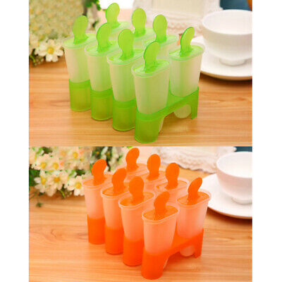 Household 8 Cell Ice Cream Mold With Sticks Summer Diy Kitchen Accessories.
