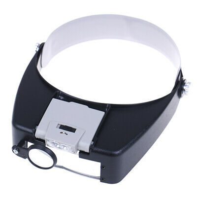 Headband magnifier led light head lamp magnifying glass with led lights iv
