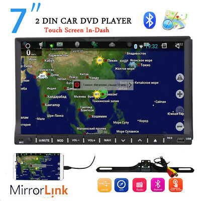 "HD 7""Double 2Din In Dash Car Stereo DVD Player GPS Navigation BT Radio+HD CAMERA"