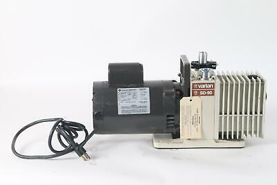 Varian SD-90 Dual Stage Rotary Vane W/ Franklin Electric 1102685401 Motor