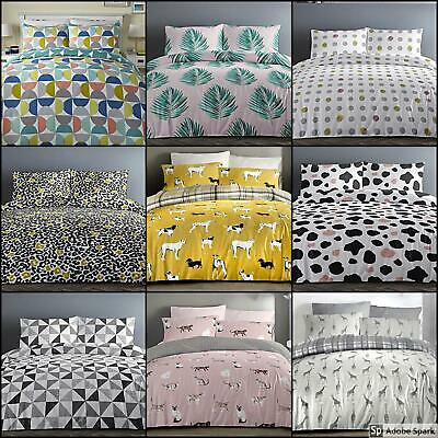 New DUVET Quilt COVER with Pillow Cases THEMED Bedding Set DOUBLE SINGLE KING