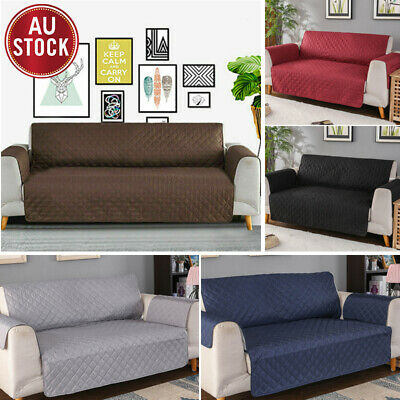 Sofa Cover 3/2/1 Seater Quilted Couch Lounge Covers Protector Slipcovers Pet Dog