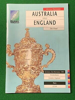 1991 RUGBY WORLD CUP FINAL - Australia v England programme - Japan 2019