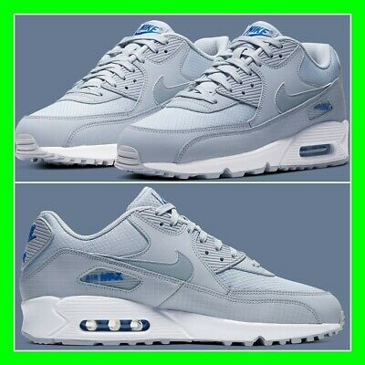 Nike Air Max 90 Mens Trainers Limited Edition Sneakers Grey-Blue-White All Size