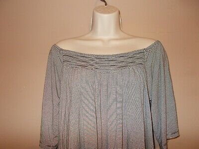 American Eagle Soft and Sexy Womens Size L Striped Knit Top  Elastic Neck
