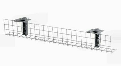 Under Desk Wire Basket Tray Cable Holder Tidy Rack 1400mm Office
