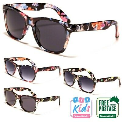 Kids / Children's Sunglasses - Floral Printed Frame 6-12 Years old Girls / Boys