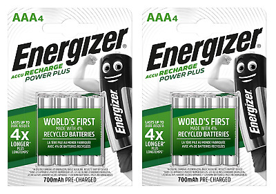 8 piles AAA ENERGIZER rechargeables Power Plus HR03 700 mAh